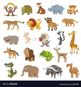 A photo depicting some animals